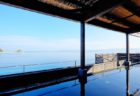 hot spring baths with ocean view