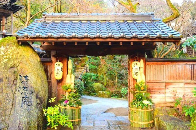 日本風の門
